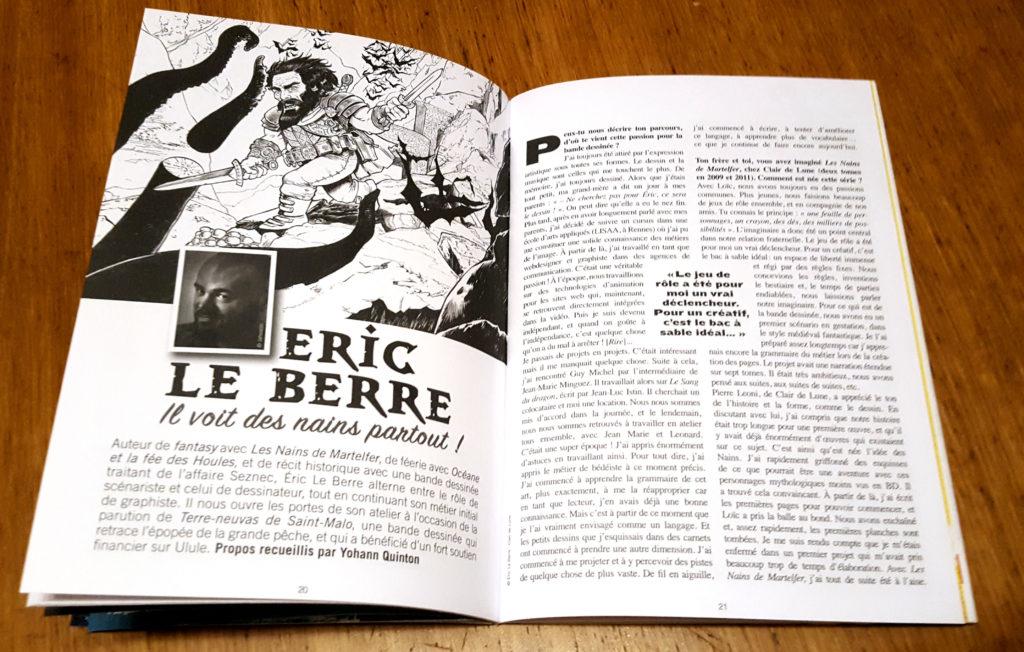 Interview de Eric Le Berre, auteur de BD, Fantasy, nains, illustrateur, art.