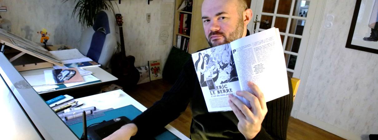 Interview de Eric Le Berre dans la revue tonnerre de bulles, Guy Michel, Mathieu Lauffray, Florent Silloray, auteur de BD, Fantasy, nains, illustrateur, art, dessin.